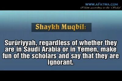 Sururiyyah's way with the scholars – Shaykh Muqbil