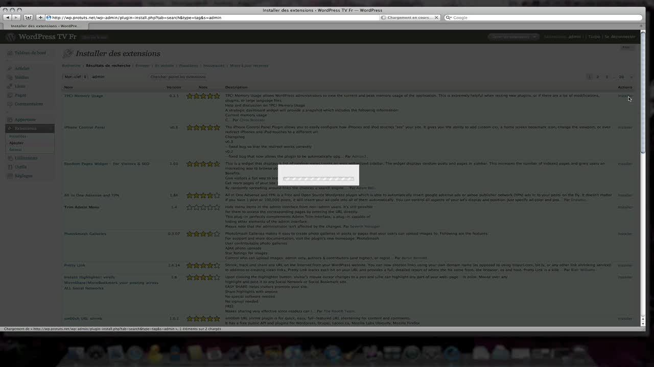 WordPress – Ajout plugin