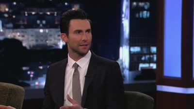Adam Levine on Jimmy Kimmel Live  May 17th 2013