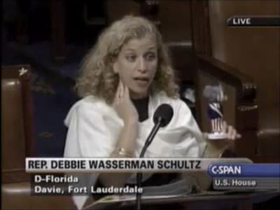 Emerson Donates Personally to Reelect Debbie Wasserman-Schultz