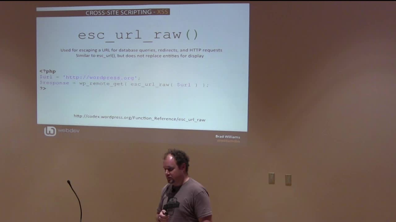 Brad Williams: Writing Secure WordPress Code