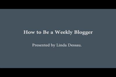 WC Toronto 2011 – How to be a Weekly Blogger