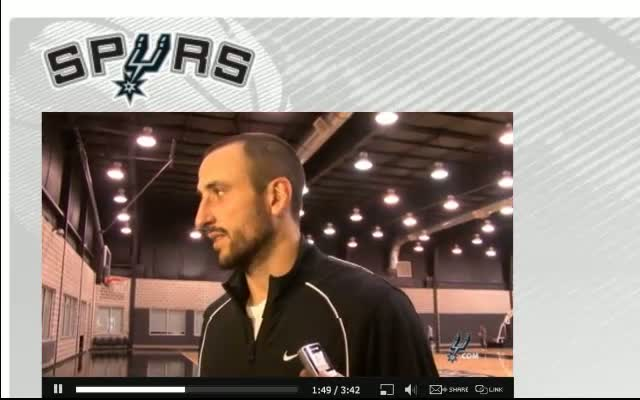 Spurs Manu Ginobili Training Camp 12-16-11