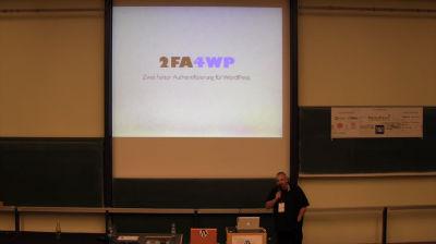 Stefan Kremer: 2FA4WP – Zwei-Faktor Authentifizierung für WordPress