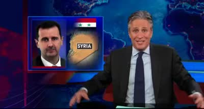 DS JON STEWART – Big Sugar Drinks Kill Slowly. Faster Killing in Syria!