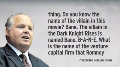 Rush Limbaugh on Bane Dark Knight Rises