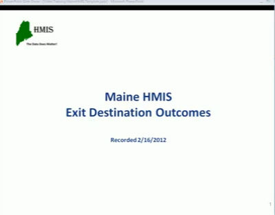 Exit Destination Outcomes