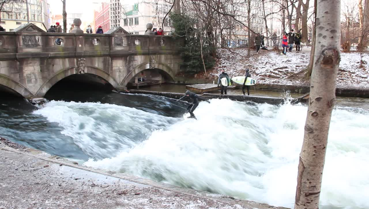 Eisbach Wave Surfers