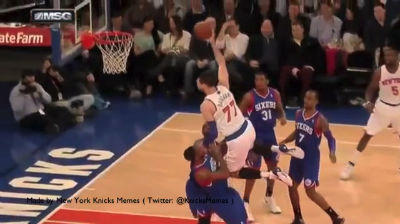 "Bargnani Dunk Fail ""The Man"""