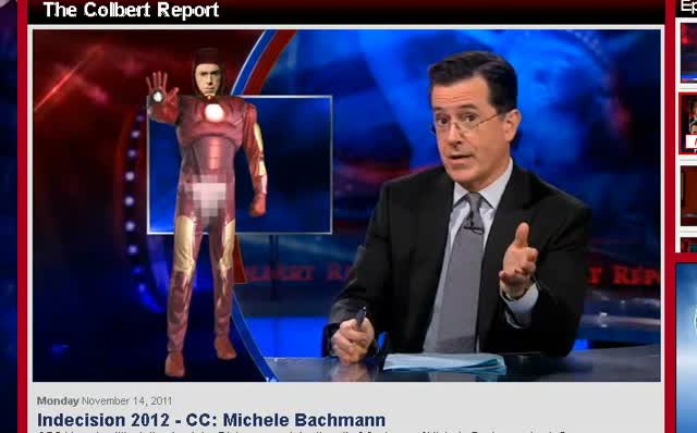 Comedy Central Stephen Colbert Michele Bachmann 111411