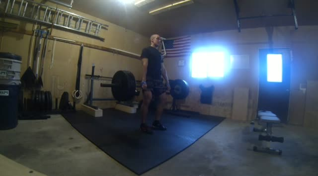 Clean Deadlifts – 230# Triple – Last Set