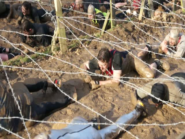 Gareth Wire Crawl at Tough Guy
