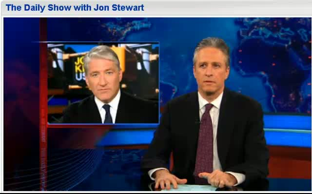 Comedy Central The Daily Show Jon Stewart Newt and the Color Beige 121411