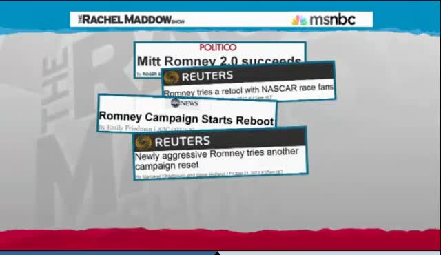 TRMS RACHEL MADDOW Romney and China and Investments