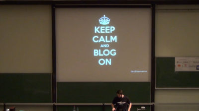 Tobias Schwarz: Keep Calm And Blog On