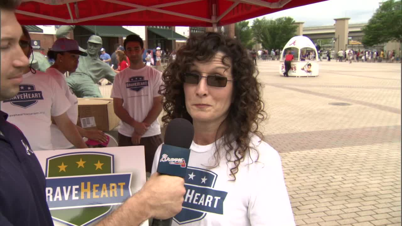 Bravesheart Interview at Braves Game