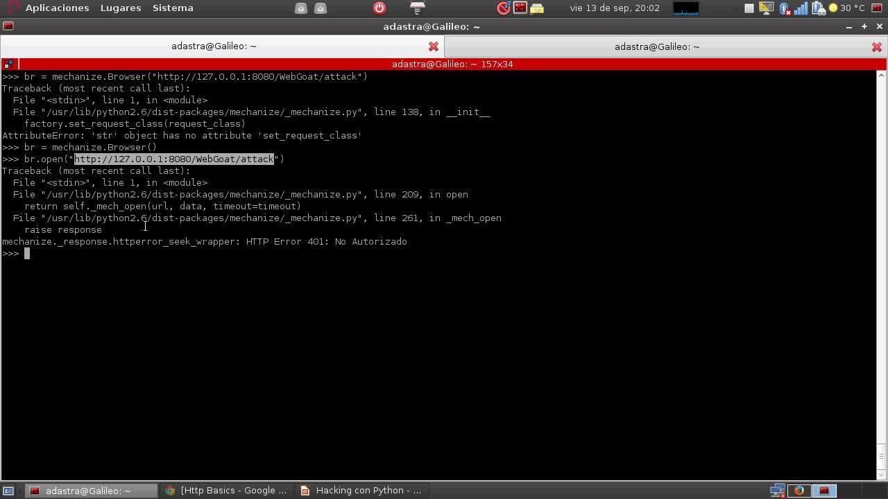 Hacking con Python Parte 10 – Mechanize para interactuar con aplicaciones web