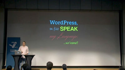 Caspar Hübinger: WordPress, On Fait Speak My Language, Va Bene?