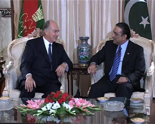 Prince Karim Agha Khan calls on President