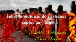 Sobre la matanza de cristianos coptos por ISIS