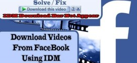 How to Download Facebook Videos to Computer Using IDM