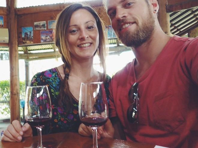 Tasting wine in Hunter Valley.