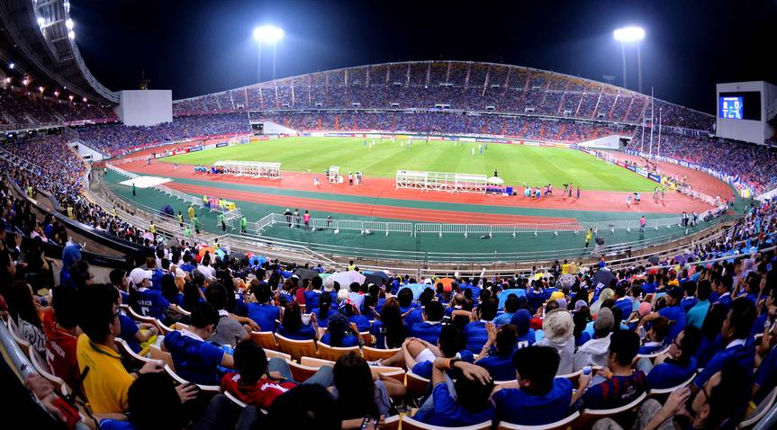 Thailand vs Japan during to their 2018 FIFA World Cup Russia Final Qualification Round Group B match at Rajamangala National Stadium on 06 September 2016, in Bangkok, Thailand. Photo by Thananuwat Srirasant / Lagardere Sports
