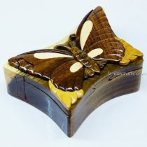 Intarsia wooden puzzle boxes 30