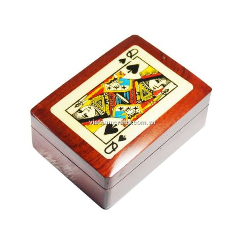 Playing Card Box Queen of Clubs (1)
