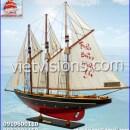 Thuyền buồm mô hình gỗ ATLANTIC