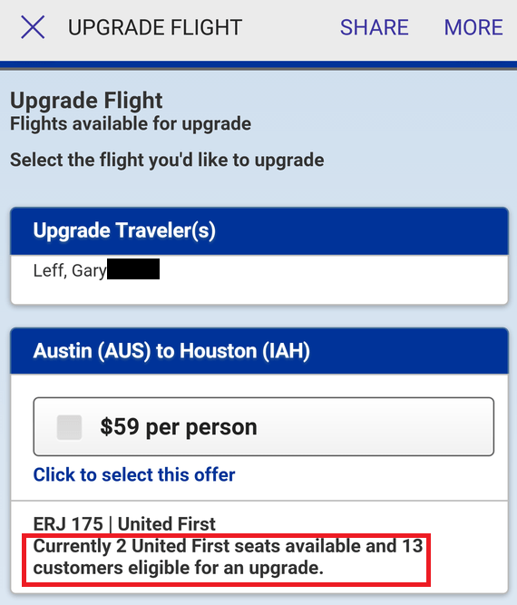 first class upgrades
