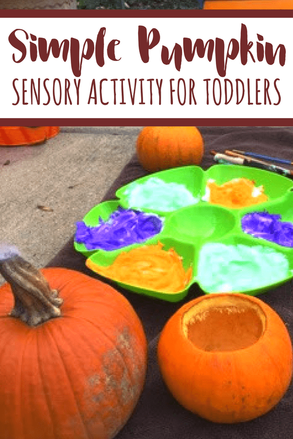 This Fall pumpkin activity for toddlers is the perfect way to engage in sensory play with one year olds and older children alike. Rinse and repeat!