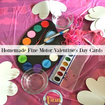 These make perfect homemade Valentine's Day cards and provide some fine motor practice to young kids. Great to give as gifts for family or classmates!