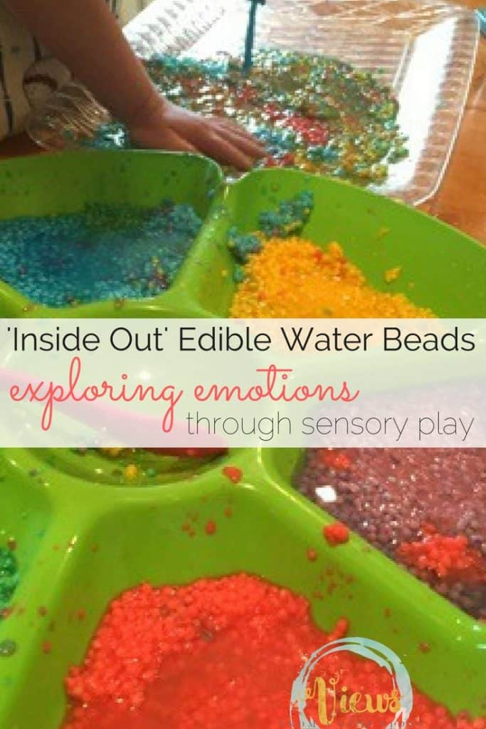 We love water beads in our house so thought we would try a new take on them by making edible water beads this time for a little extra fun! The colors of the beads represent different emotions/feelings.