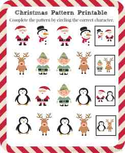 FREE Christmas Pattern Printable