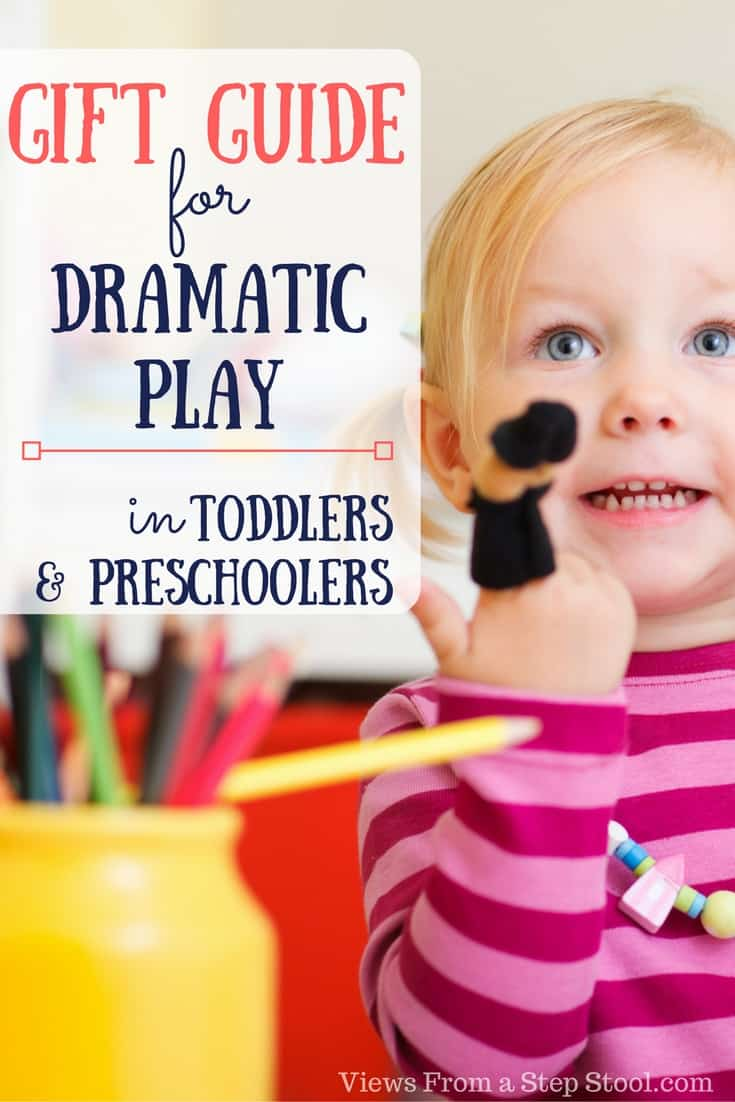 This gift guide for dramatic play offers a number of toys for preschoolers and toddlers to engage in creative and imaginative play.