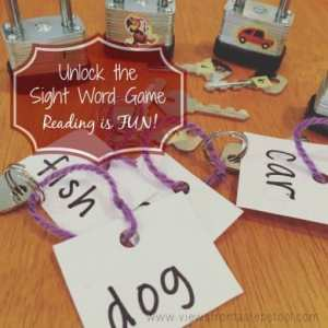 Use padlocks and keys to unlock the sight words in this fun and educational DIY game!