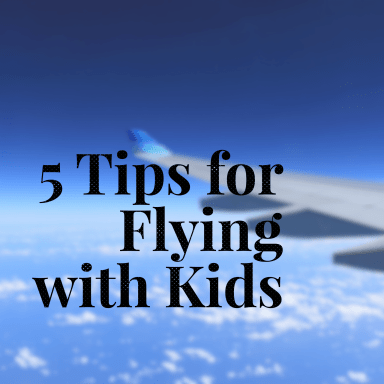 These 5 tips for flying with kids will make airplane travel much easier on both you and your kids. With a bit of preparation it will be smooth sailing!