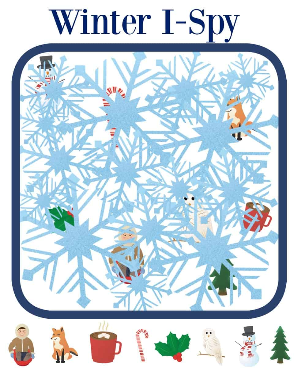These printable Winter games for toddlers will keep your little ones busy (and learning) all while having fun! Includes I-Spy, Matching and Bingo!