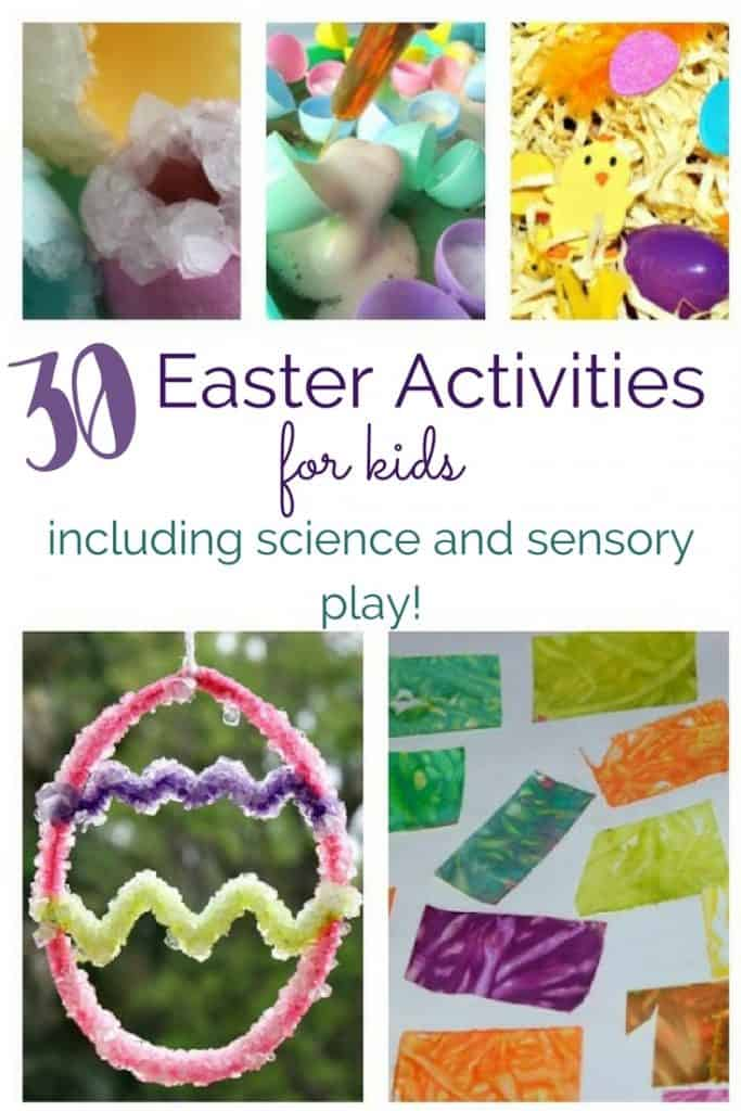 These Easter activities for kids are fantastic for preparing for the upcoming holiday, as well as for keeping kids busy during Spring break!