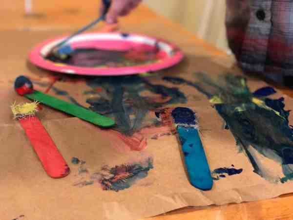 Through this hands-on painting for kids project, children can experience cause and effect while learning about color mixing and textures!