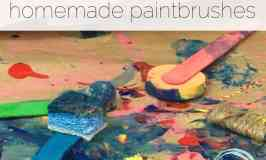 Process Art Painting for Kids with Homemade Paintbrushes