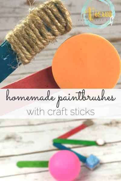 homemade paintbrushes