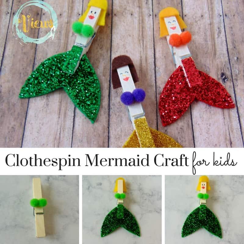 Clothespin Mermaid Craft square