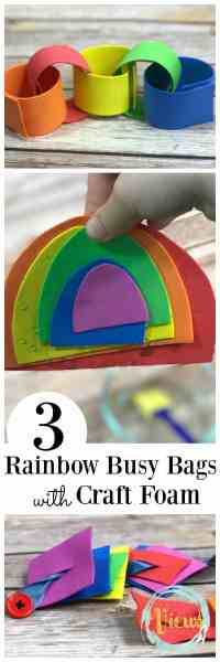 rainbow busy bag pin collage