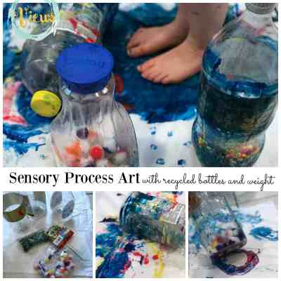 sensory process art square collage