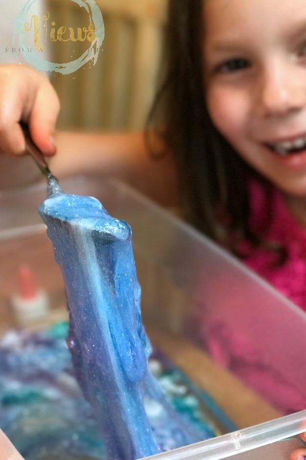 Moana ocean slime made with contact solution and borax free for Sf contact nackenkissen small