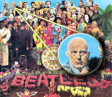 Crowley on the Beatles' Sgt. Pepper's Lonely Hearts Club Band album cover