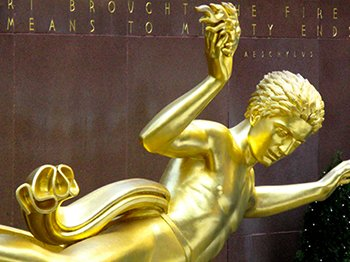 Prometheus, a favorite figure of the illuminist elite, is prominently displayed in the Rockefeller Center (read the article about it here).