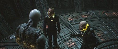"The crew finally meets one of its ""Engineers"", a giant alien. Unfortunately, the alien didn't feel like discussing."